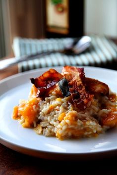 Pumpkin AND bacon? Irish chef Donal Skehan's Thanksgiving recipe that's sure to impress. Pumpkin, pancetta, and risotto? This Thanksgiving recipe from Donal Skehan is a one-stop-shop for comfort food this autumn. Pumpkin Risotto, Prosciutto, Pancetta, Roast Pumpkin, Risotto Recipes, Pork Recipes, Irish Recipes, Fun Recipes, Amazing Recipes