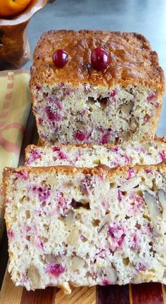 Cranberry Orange Walnut Bread | Baking Blond