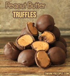 peanut butter truffles recipe- I got into a fight with my mom while making these today, and I had to do them myself, but they turned out really good.