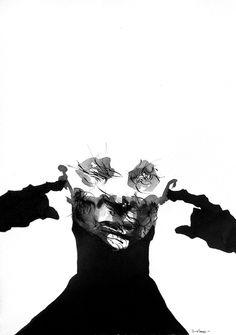 Rene Almanza - Ruido. Tinta china, 26x36cm