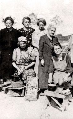 A group of German Jewish women in the Gurs prison camp, France. April 1941.