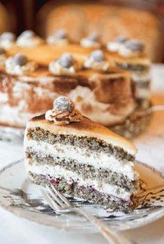 Rezept für Mohn-Preiselbeer-Torte