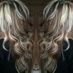 Blonde highlights with chocolate brown lowlights by suzette