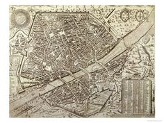 Map of Florence, 1595 Giclee Print by Matteo Florimi