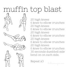Pesky muffin tops can be so hard to tone - check out this great sequence to help blast muffin top fat! Soccer Workouts, Workouts For Teens, Easy Workouts, Yoga Workouts, Minions, 6 Pack Abs Workout, Waist Workout, Workout Gear, Muffin Top Exercises