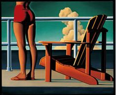 Kenton Nelson painting. His work was all over the house in Somethings Gotta Give :-) Love this one in particular!
