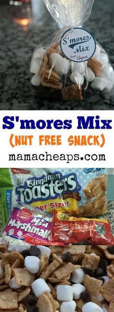 S'mores Trail Mix – Easy Nut Free SnackYou can find Nut free and more on our website.S'mores Trail Mix – Easy Nut Free Snack Class Snacks, Classroom Snacks, Preschool Snacks, Classroom Ideas, Trail Mix Kids, Peanut Free Snacks, Trail Mix Recipes, Snacks Für Party, Birthday Snacks