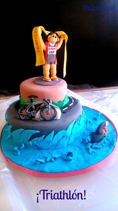 Tarta de fondant Triatlón - Fondant cake Triathlon