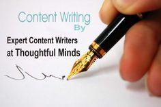 Get best and expert content writers for your website content, brochure content, articles or blog content.