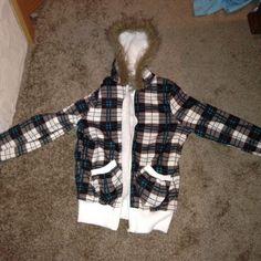 Jacket Plaid, furry jacket Jackets & Coats Utility Jackets