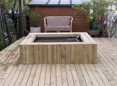 raised pond with decking
