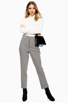 9ea87e56af0 Houndstooth Trousers - New In Fashion - New In - Topshop USA Fall Winter