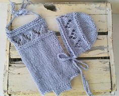 Looking for your next project? You're going to love Lacy Baby Bonnet and Baby Romper Set by designer craftystuff.