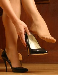 I am a mature man who has had a life long obsession with women in nylons not wearing shoes. Pantyhose have there place, but I especially like full fashion stockings. Sexy High Heels, Sexy Legs And Heels, Hot Heels, Strappy Heels, Stiletto Heels, Pantyhose Heels, Stockings Heels, Sexy Zehen, Pantyhosed Legs