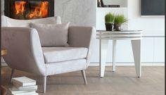 MOYA living :: SHEL armchair and WIND lowtable Armchair, Living Room, Table, Furniture, Home Decor, Sofa Chair, Single Sofa, Decoration Home, Room Decor
