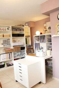 Lilith's scrapbooking venture.  Very nice and organized. I could see this as my sewing room