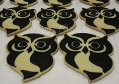 Owls sugar cookies by Mily'sCupcakes, via Flickr