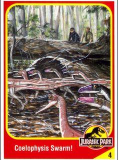 Jurassic Park Trading Cards Jurassic Park Book, Jurassic Park Trilogy, Jurassic World Characters, Jurassic World Fallen Kingdom, Michael Crichton, Falling Kingdoms, Prehistoric Creatures, Cryptozoology, Thriller