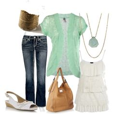 Feeling Minty, created by chells-style on Polyvore