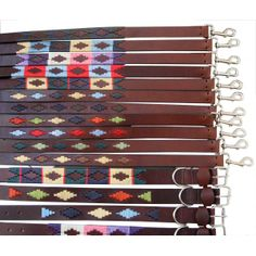 Collar and leash in Patagonia's design typical from Argentina. Sold as a package.