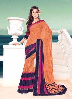 http://www.sareesaga.in/index.php?route=product/product&product_id=23866 Style	:	Casual	Shipping Time	:	10 to 12 Days Occasion	:	Party Casual	Fabric	:	Georgette Colour	:	Peach	 Work	:	Print Lace For Inquiry Or Any Query Related To Product, Contact :- +91-9825192886, +91-7405449283