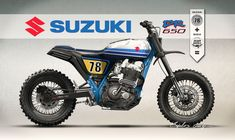 dreamwheelsheritage and Caplelos Garage have joined forces to idealize this incredible project of a Suzuki DR650RS inspired by the modern scrambler/tracker scene