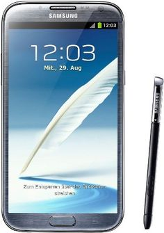 The #Samsung Galaxy Note II runs on Android platform, equipped with a 5.5-inch super AMOLED display, powered by a 1.6 GHz Quad-Core processor.
