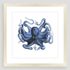 One of my favorite discoveries at WorldMarket.com: Vintage-Style Octopus Sea Life Wall Art