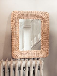 Wicker Mirror, Front Entrances, Bohemian, Cottage, Ship, Frame, Home Decor, Products, Picture Frame
