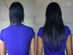 antes edepois - cabelo liso