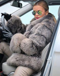 2015 Mocca Royal Saga Fox Fur Jacket Like Coat Silver Sable Mink Chinchilla Lynx   eBay
