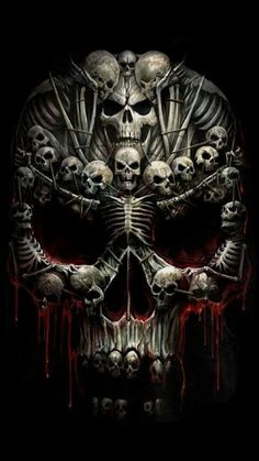 Evil Skull Tattoo, Skull Tattoo Design, Skull Tattoos, Body Art Tattoos, Grim Reaper Art, Skull Stencil, Satanic Art, Skull Pictures, Geniale Tattoos