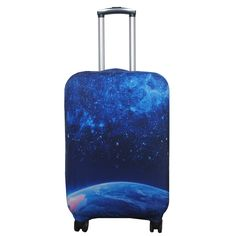3D Rhinestone Background Print Luggage Protector Travel Luggage Cover Trolley Case Protective Cover Fits 18-32 Inch