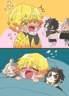 Đọc Truyện 《Kimetsu No Yaiba》Fanart + Doujinshi - Kaigaku x Zenitsu - Trang 3 - - Wattpad - Wattpad Anime Chibi, Me Anime, Anime Demon, Anime Guys, Manga Anime, Anime Art, Anime Angel, Familia Anime, Demon Hunter