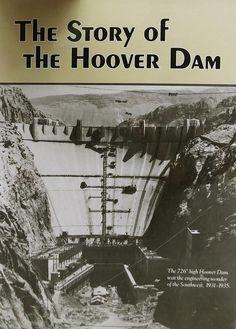 BOOK - Story of Hoover Dam Hoover Dam Construction, Walkways, Heavy Equipment, Bridges, Roads, Nevada, 1930s, Las Vegas, Engineering