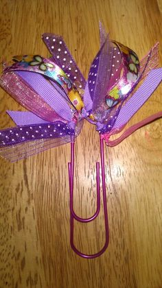 Jumbo paperclip bookmark in different hues of PURPLE, handmade by me =)