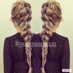Pull through braid + fishtail by Jennifer MacDougall