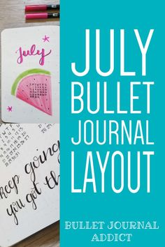 Bullet Journal Ideas, Inspiration, and Tips - July Bullet Journal Watermelon Theme - Positive Quotes and Motivation in Bullet Journal #monthlyspread #bujo #bulletjournal #bujolove #bujolife #bujomonthly #bulletjournalmonthly #monthlylayout #gratitudelog #habittracker #monthlyhabits #bujomonthlyspread Bullet Journal Quotes, Bullet Journal Themes, Bullet Journal Layout, Bullet Journal Inspiration, Journal Ideas, Bujo Monthly Spread, Bullet Journal Monthly Spread, Positive Mindset, Positive Quotes