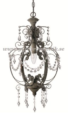 This one for my crafts-studio! Ljuskrona i fransk lantstil - Lampor - shabby chic, lantlig inredning, lantlig stil, lantstil,fransk lantlig inredning, industristil, house doctor, madam stoltz, present, inredning, trädgård, fågelbur