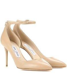 Lucy 100 nude leather pumps