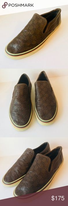 37bd49dc616 Gucci Men s slip sneakers size 14G The shoes have signs of wear on the back  of