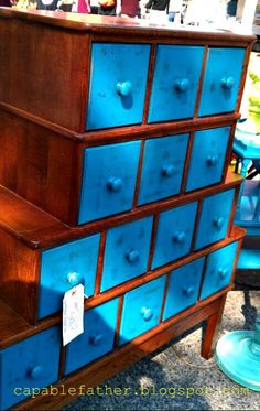 card catalogs & little drawers