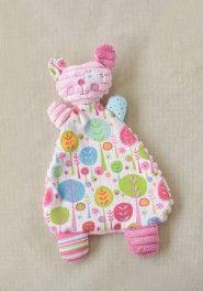 silly bear blankie in pink