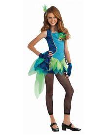 Blue Peacock Tween Costume