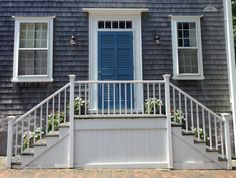 Nantucket Quaker friendship stairs: you can greet people coming and going .