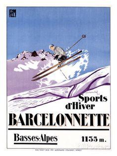 Barcelonnette reproduction procédé giclée par Michel sur AllPosters.fr