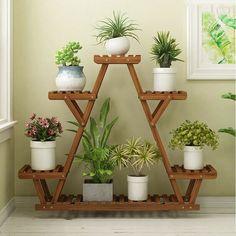 Small Plant Stand, Wooden Plant Stands, Diy Plant Stand, Tiered Plant Stand Indoor, Indoor Plant Shelves, Outdoor Shelves, House Plants Decor, Plant Decor, Corner Plant