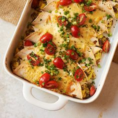 Breakfast Enchiladas Recipe. Matt says add black beans to filling, dip tortillas in green enchilada sauce, cover with enchilada sauce before topping with cheese sauce