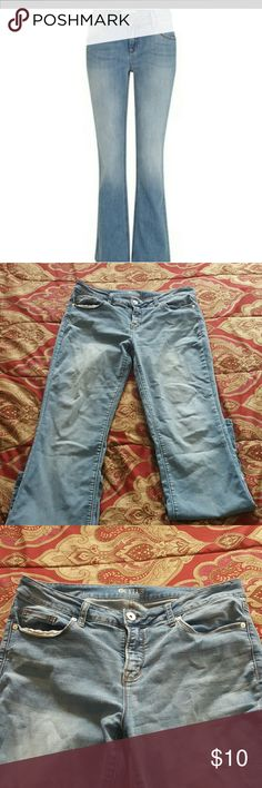 Light wash Boot Cut Jeans Light wash blue jeans, boot cut, jeans , have normal wear along the back bottom see pictures 4 and 5  Still in great condition Stylus Jeans Boot Cut