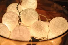 Cotton lights. via Etsy.